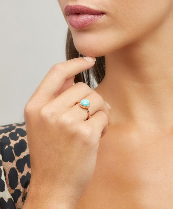 Rose Gold-Plated Amazonite Siren Stacking Ring
