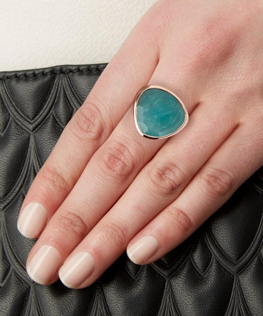 Rose Gold-Plated Amazonite Siren Ring