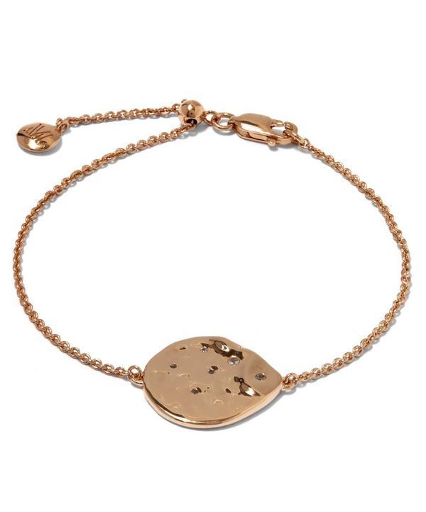 Rose Gold-Plated White Topaz Siren Scatter Bracelet