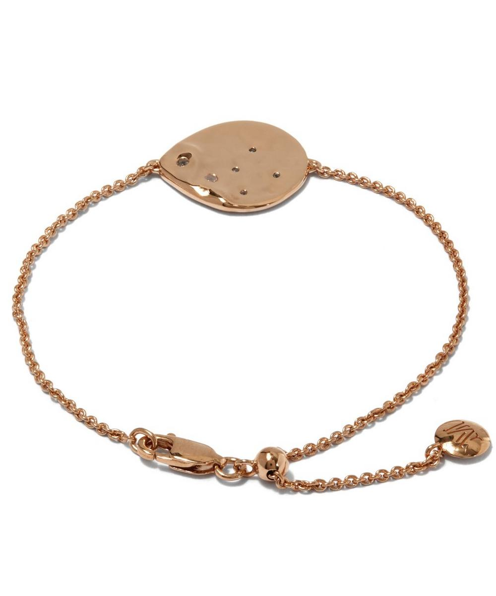 Rose Gold-Plated White Topaz Siren Scatter Bracelet