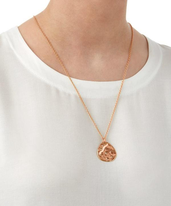 Rose Gold-Plated Siren Scatter Teardrop Pendant