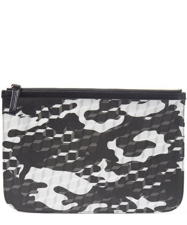 Camo Cube Large Canvas Pouch