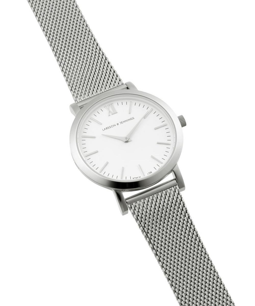 Lugano 33mm Silver-White Milanese Watch