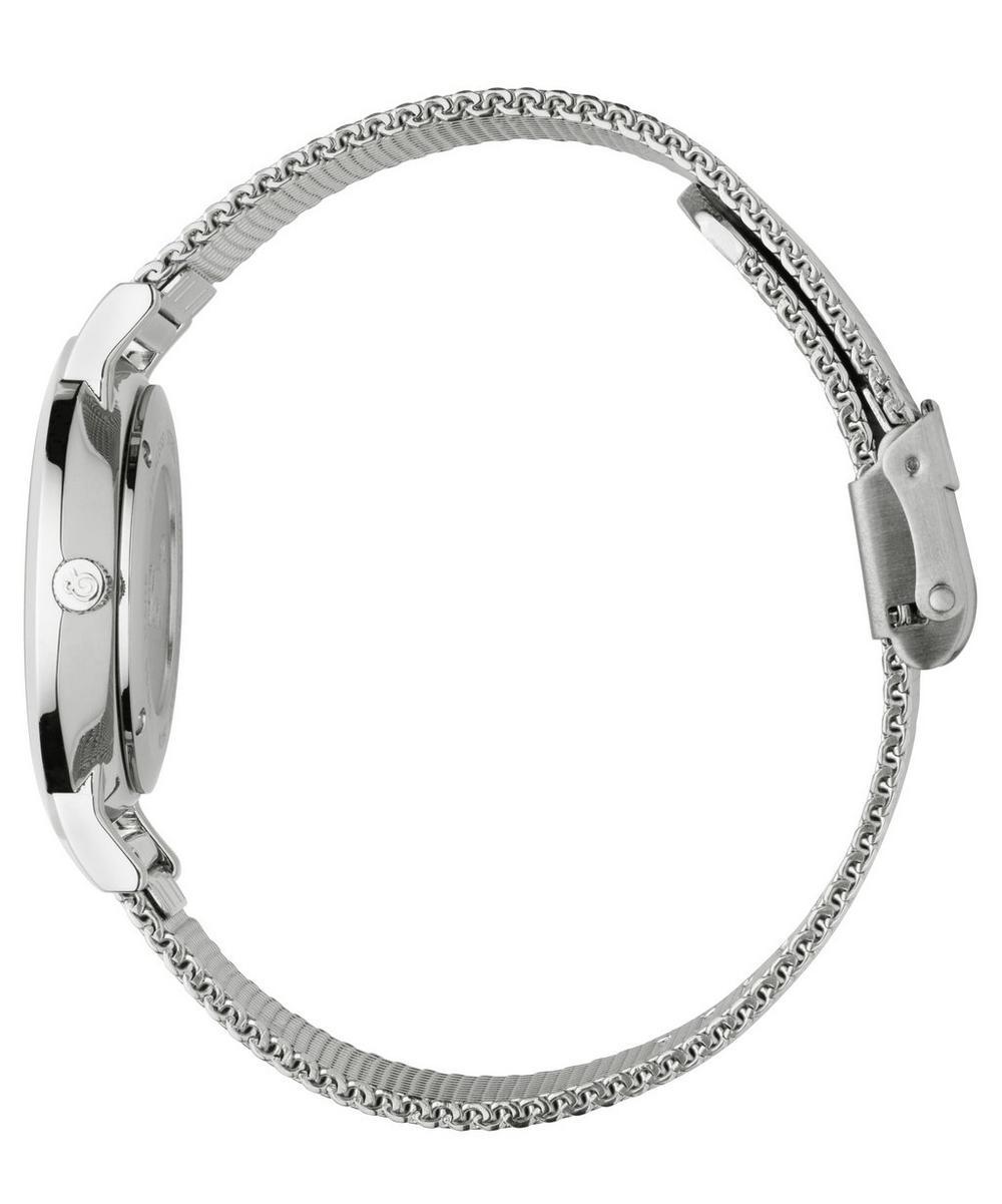 Lugano 33mm Silver-White Milanese Watch
