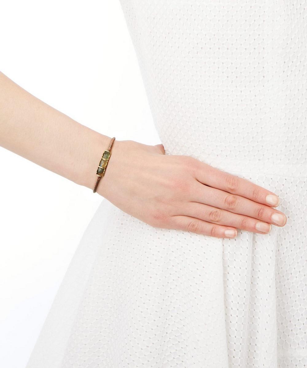 Labradorite Triple Bar Bracelet