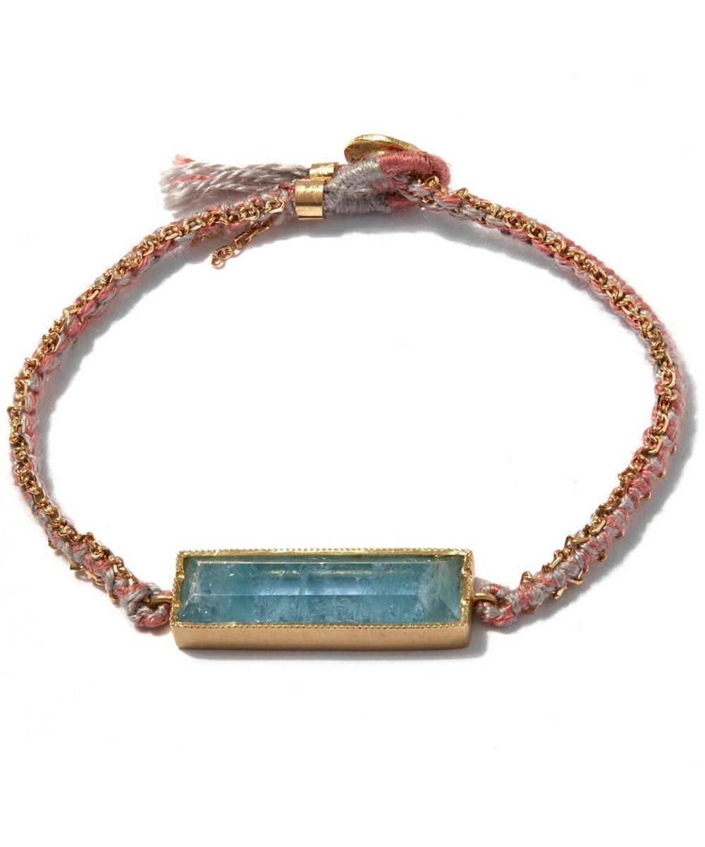 Aquamarine Bar Bracelet
