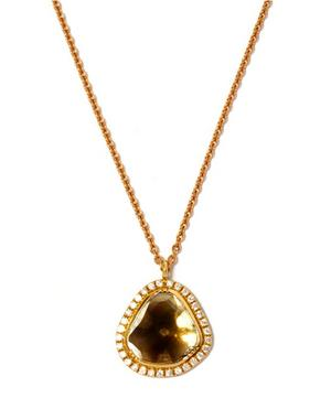 Gold Starlight Pavé Diamond Necklace