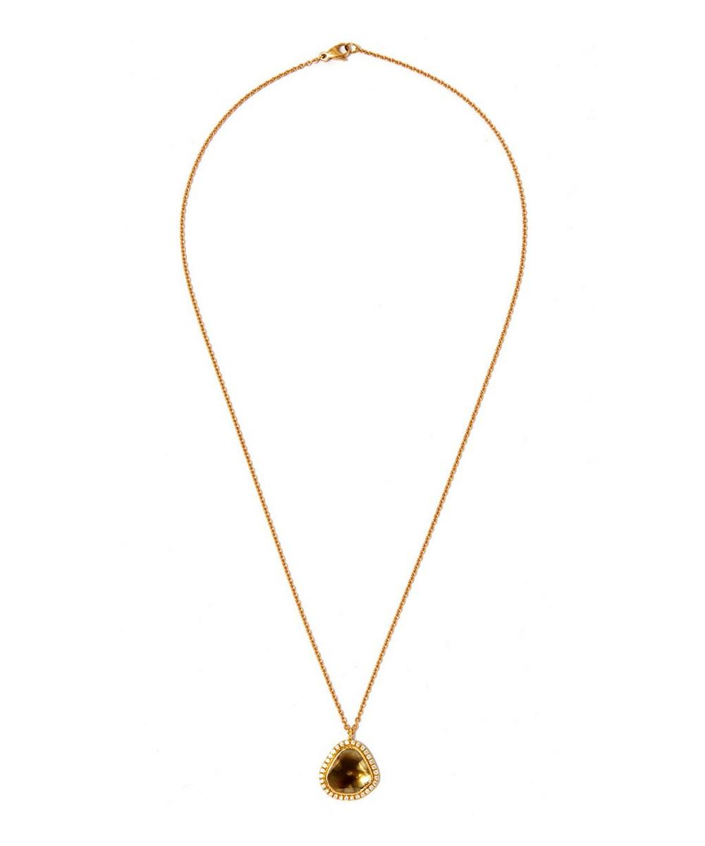 Gold Starlight Pavé Diamond Necklace