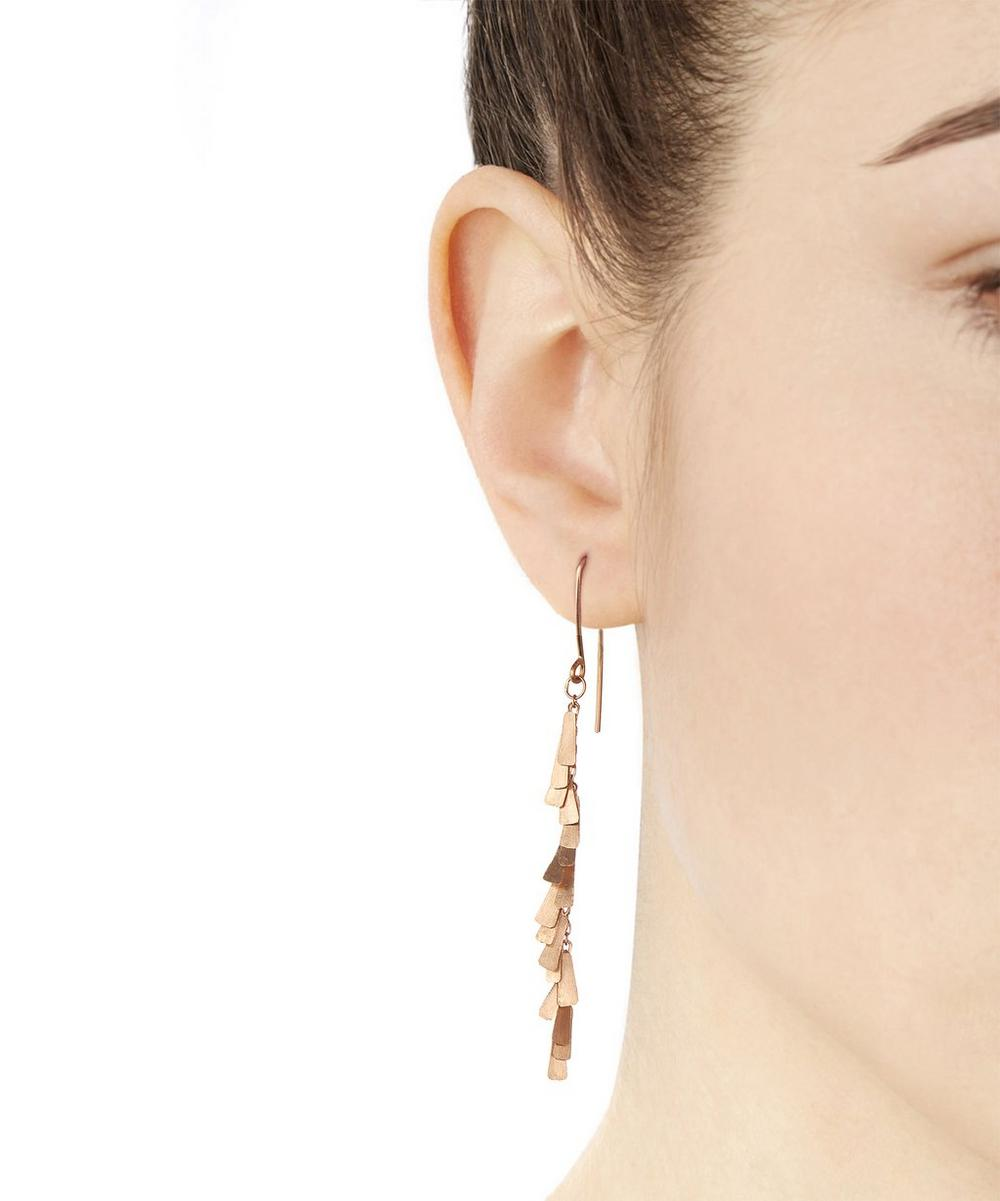 Rose Gold Triangles Earrings