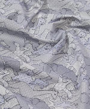 Creatures Cotton Satin in Pelican