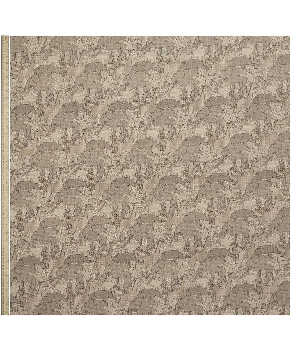 Creatures Natural Linen in Rhino