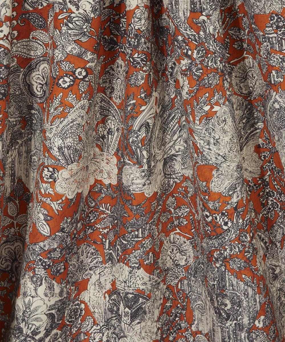Emerald and Rose Cotton Linen in Janson Orange