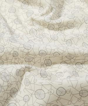 Philippa's Bike Brushed Cotton in Silver Cycle