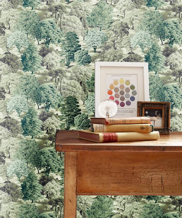 Limewood Wallpaper in Fairweather Green