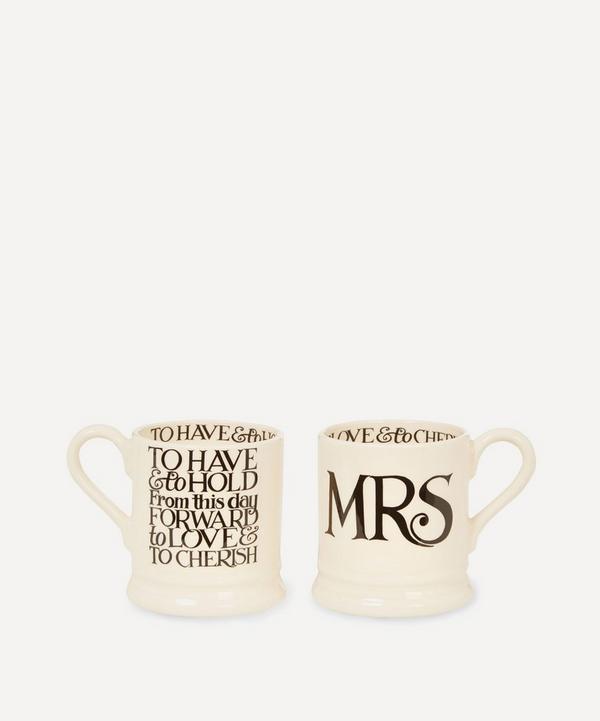 Mrs and Mrs Half Pint Mugs
