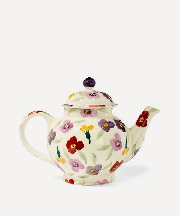 Wallflower Earthenware Four Cup Teapot