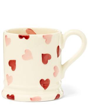 Hearts Earthenware Half Pint Mug