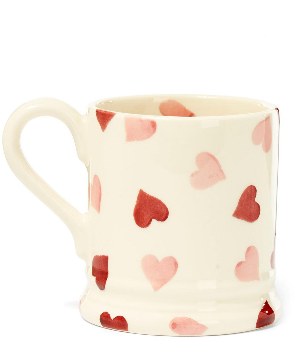 Hearts Earthenware Half Pint Mug