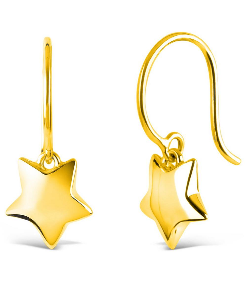 Gold-Plated Bijou Star Drop Earrings