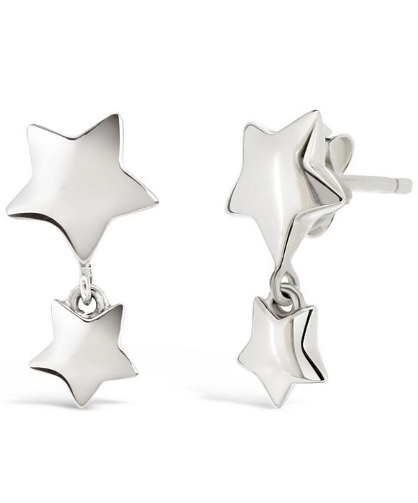 Silver Bijou Star Dangle Earrings