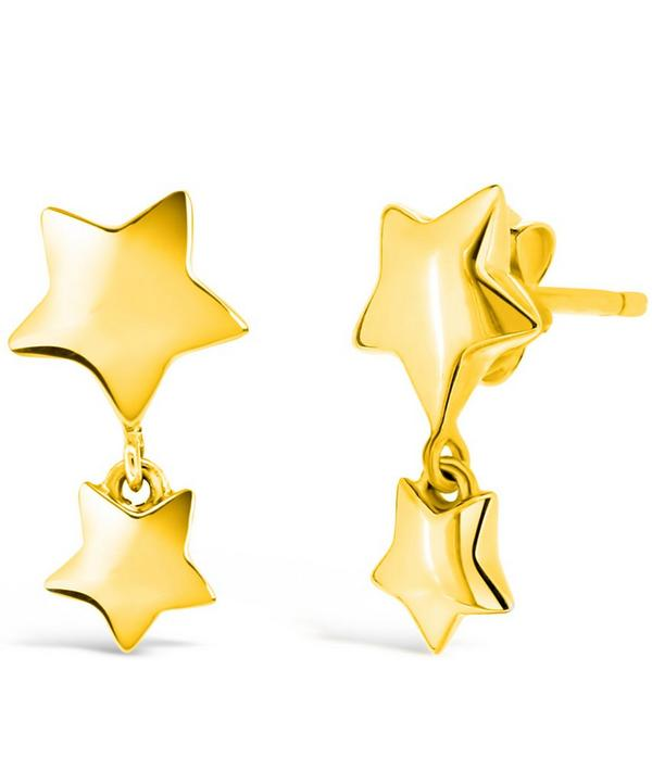 Gold-Plated Bijou Star Dangle Earrings