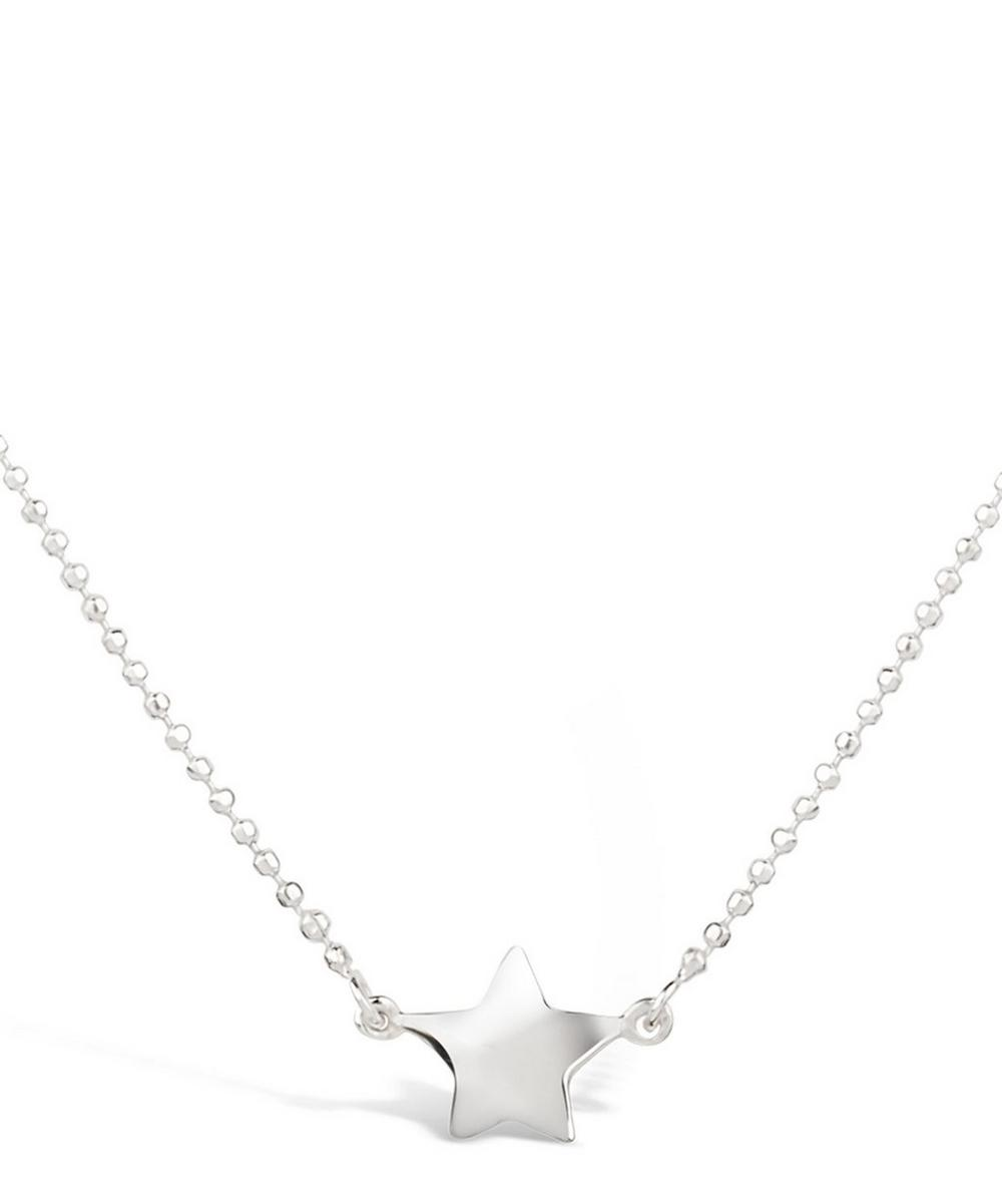 Silver Bijou Suspended Star Pendant Necklace