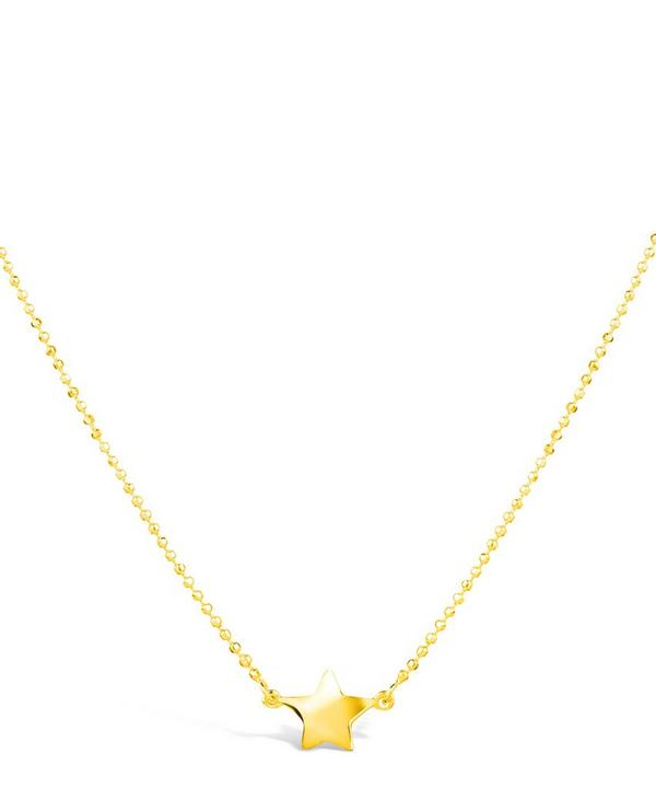 Gold-Plated Bijou Suspended Star Pendant Necklace