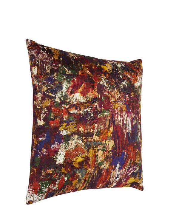 Porthmeor Beach in Studio Vintage Velvet Cushion