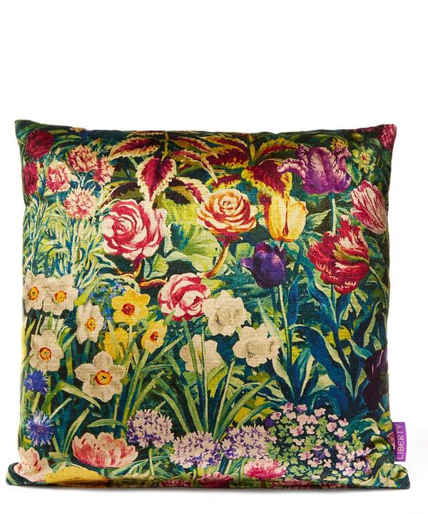 Gail's Garden in Dawn Vintage Velvet Cushion