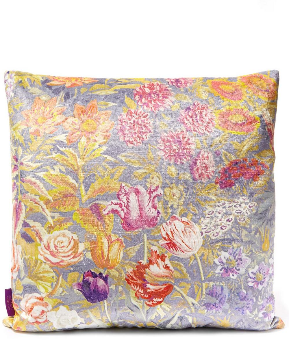 Gail's Garden in Dusk Vintage Velvet Cushion