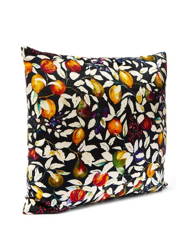 Fruit Billett in Forest Fruits Vintage Velvet Cushion