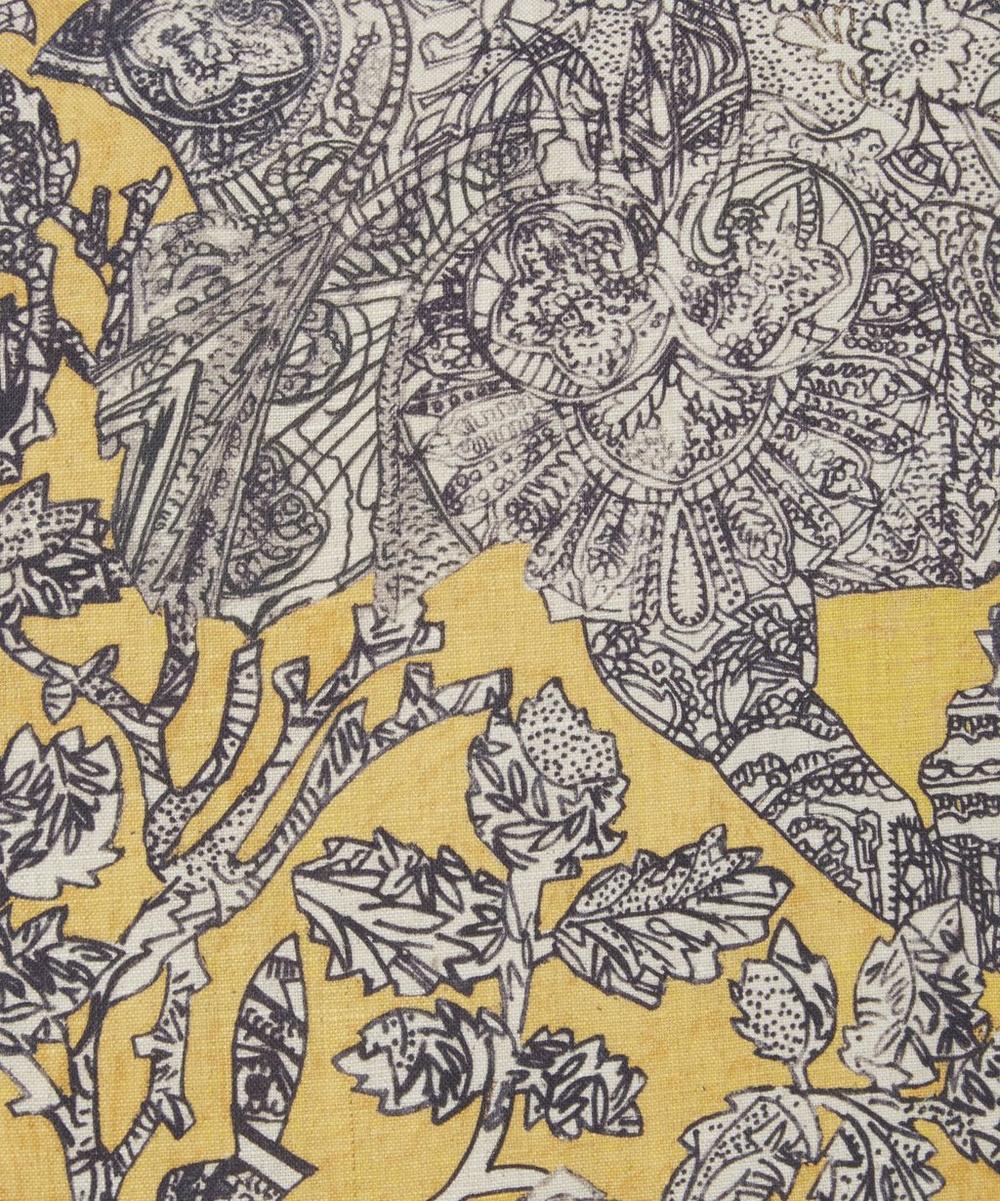 Emerald Rose in Gambon Gold Linen Cushion