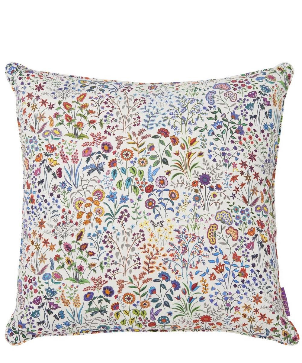 Shepherdly Flowers in Exotic Cotton Cushion