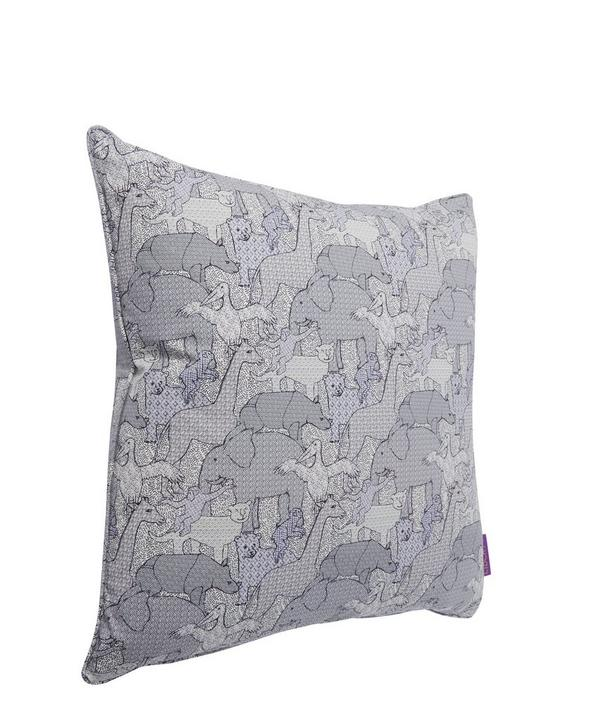 Creatures in Pelican Cotton Cushion