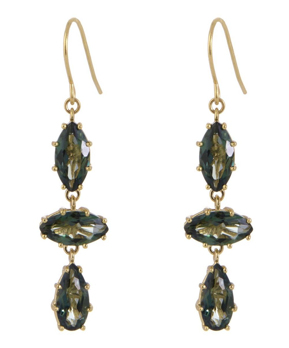 Envy Green Topaz Drop Earrings