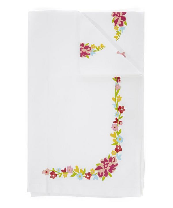 Phoebe Liberty Print Bordered Cotton Tea Towel