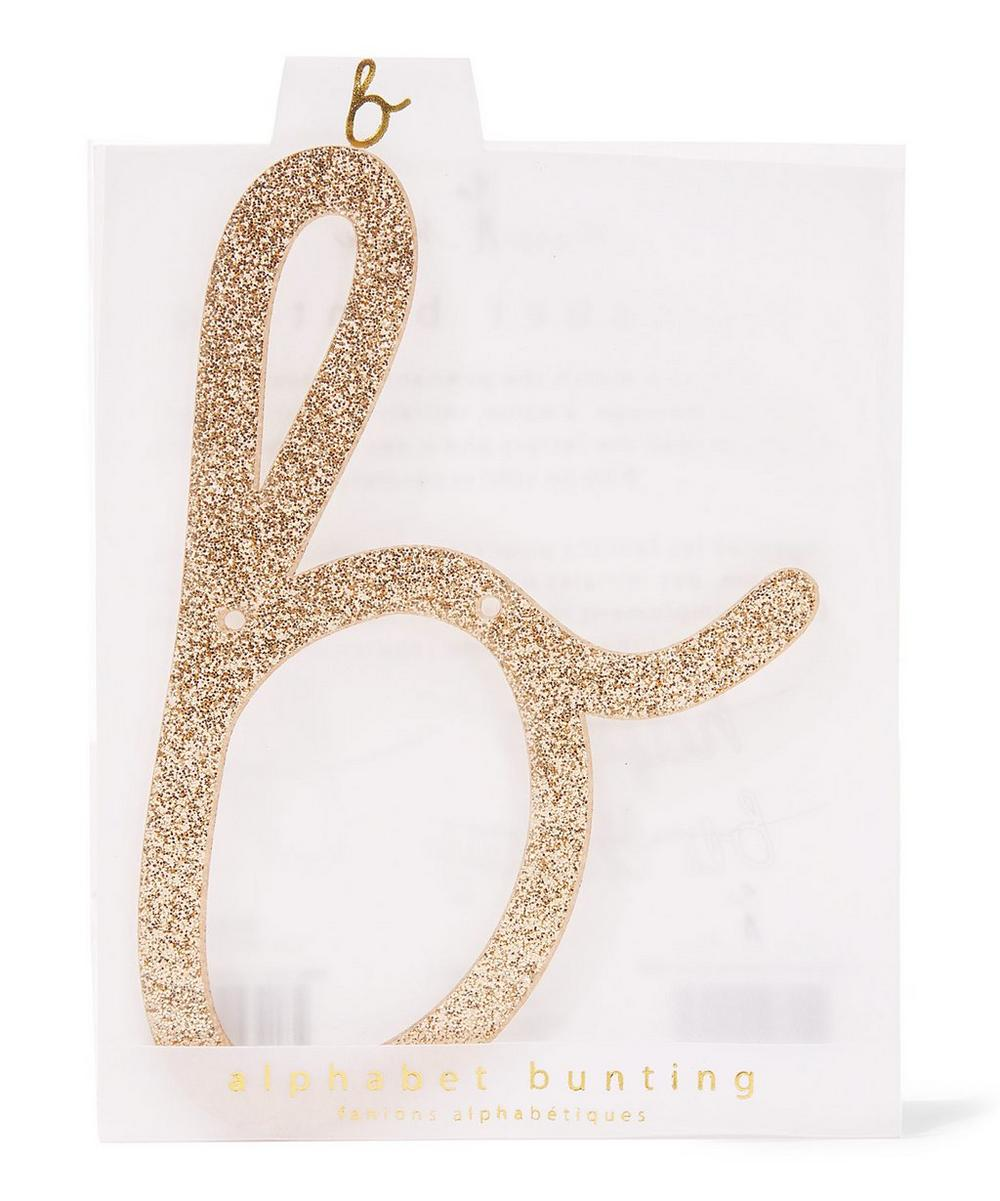 Glitter B Acrylic Bunting Letter