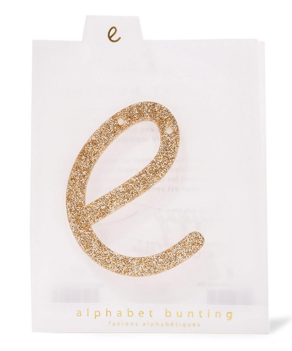 Glitter E Acrylic Bunting Letter
