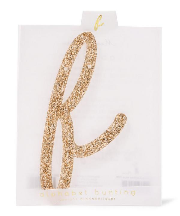 Glitter F Acrylic Bunting Letter