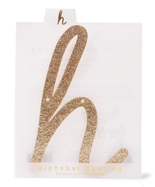 Glitter H Acrylic Bunting Letter