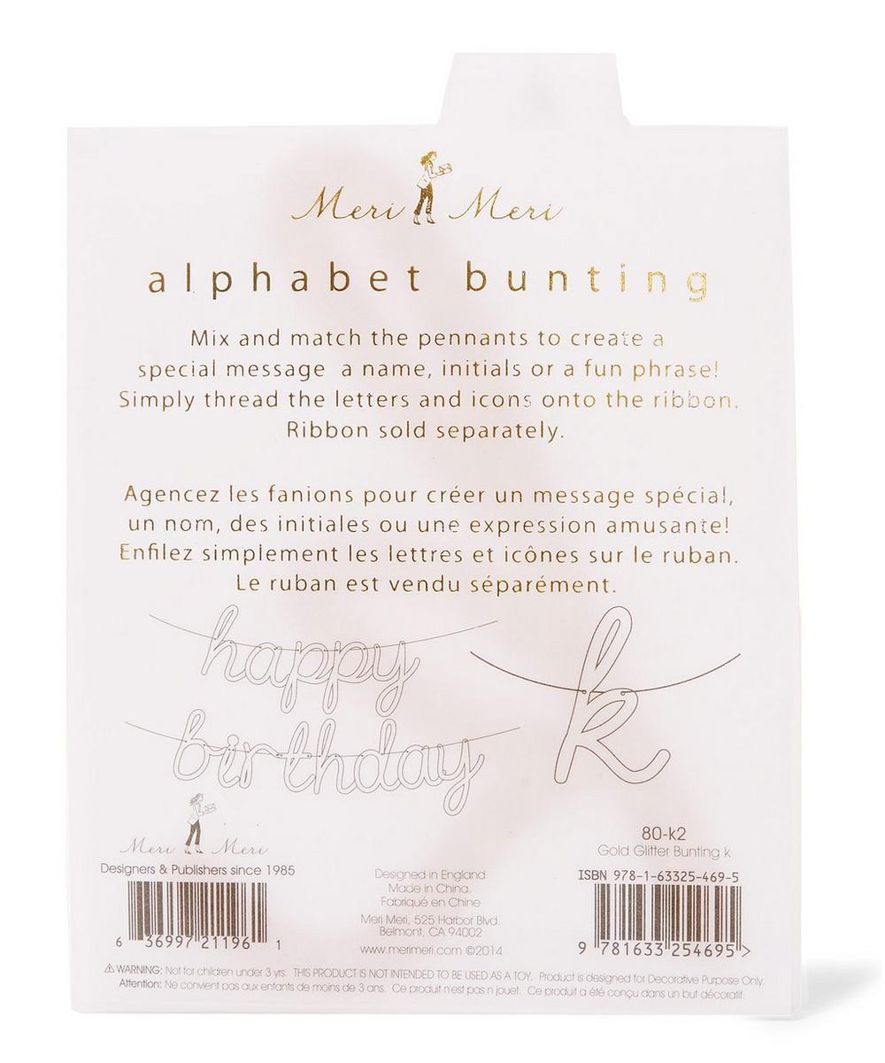 Glitter K Acrylic Bunting Letter