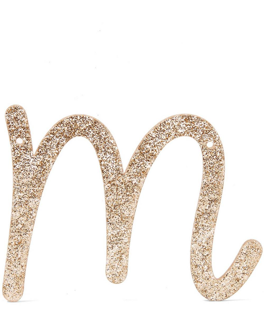 Glitter M Acrylic Bunting Letter