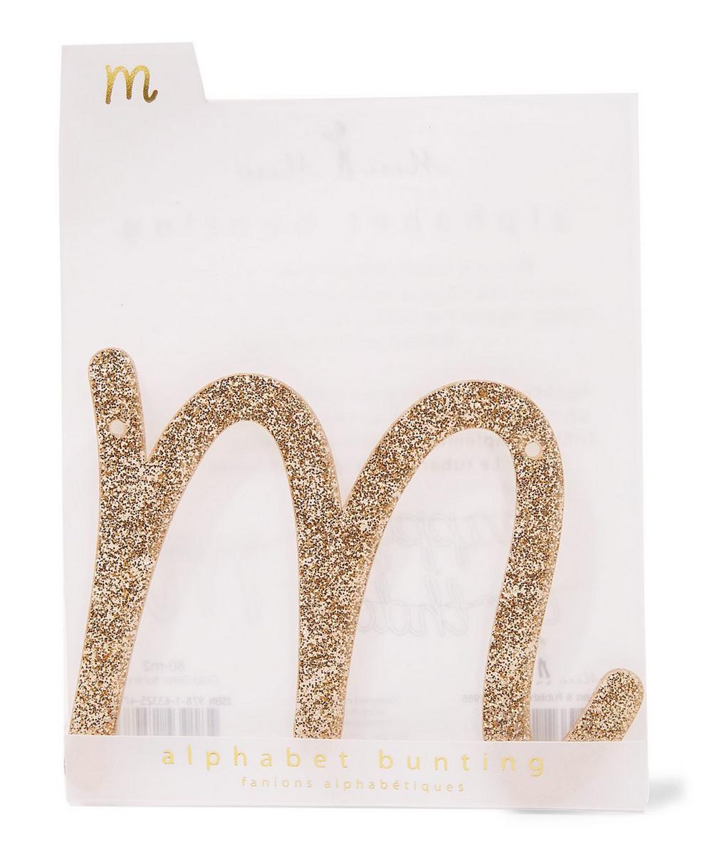 Glitter M Acrylic Bunting Letter