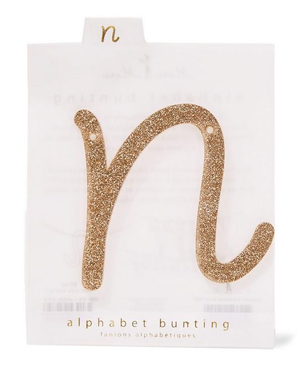 Glitter N Acrylic Bunting Letter