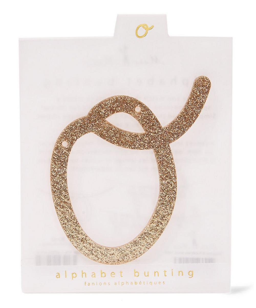 Glitter O Acrylic Bunting Letter