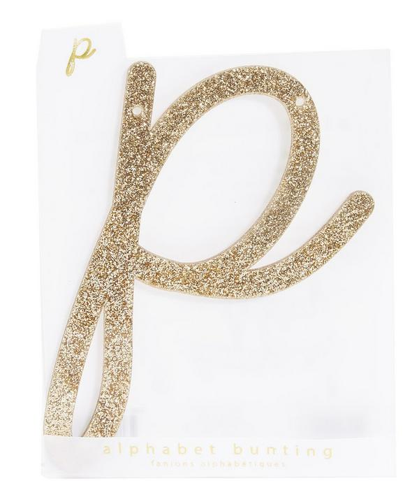 Glitter P Acrylic Bunting Letter