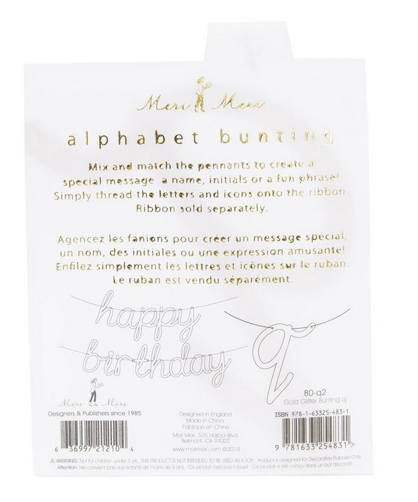 Glitter Q Acrylic Bunting Letter