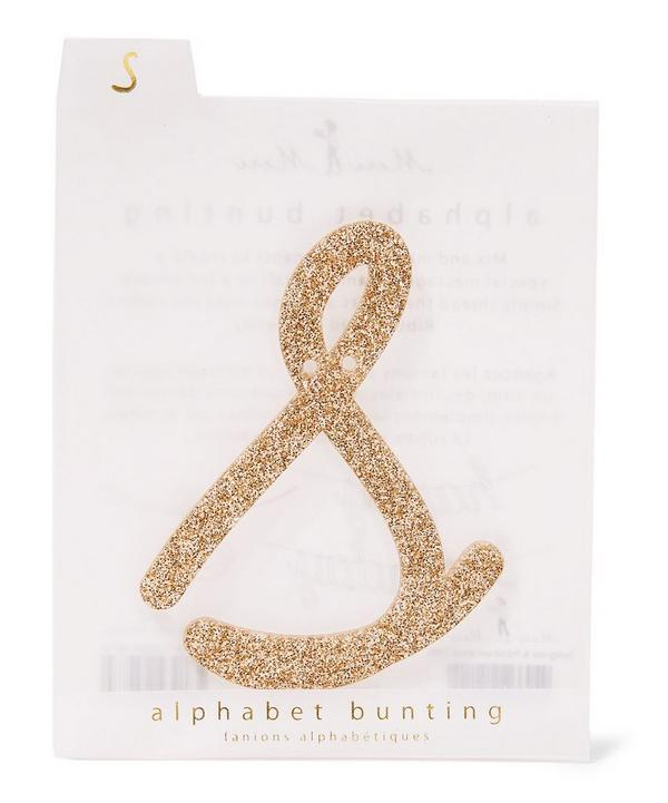 Glitter S Acrylic Bunting Letter