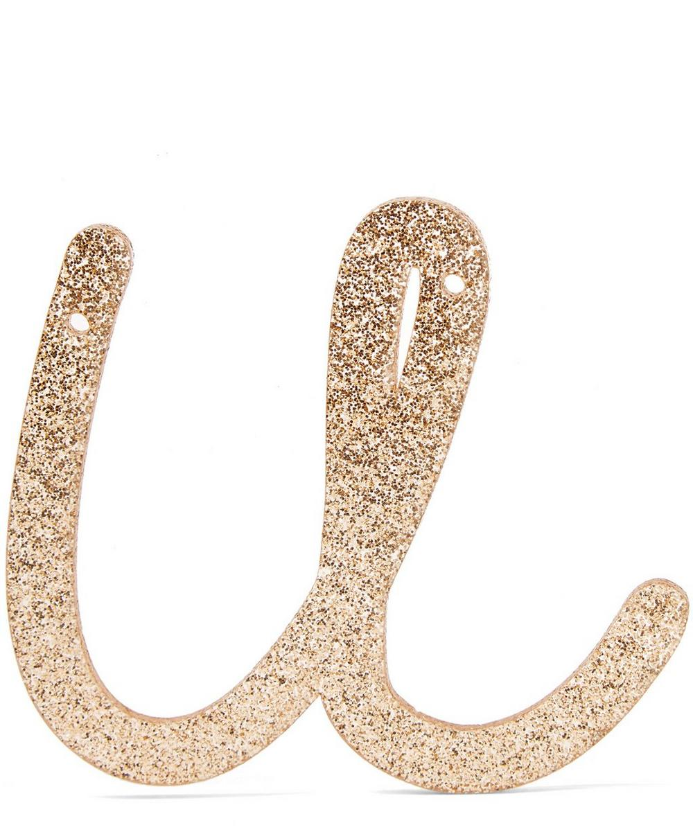 Glitter U Acrylic Bunting Letter