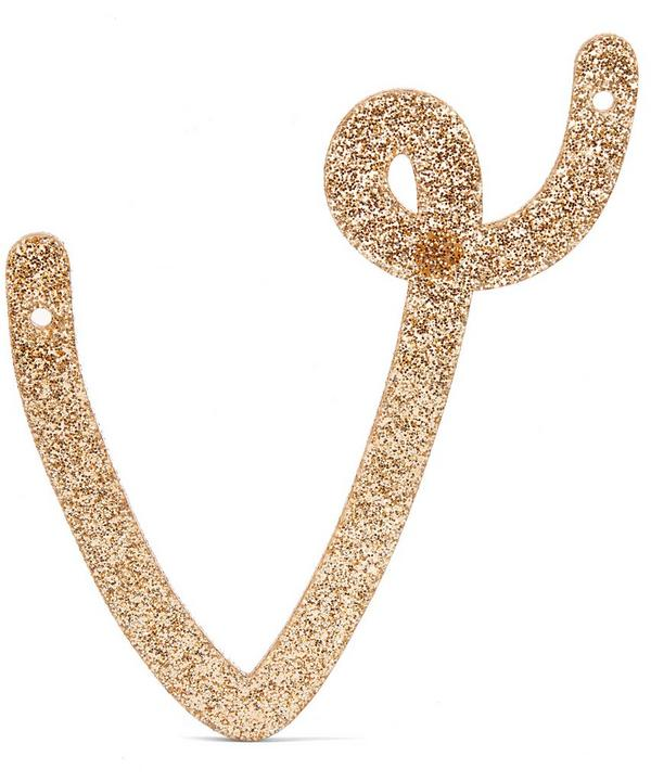 Glitter V Acrylic Bunting Letter